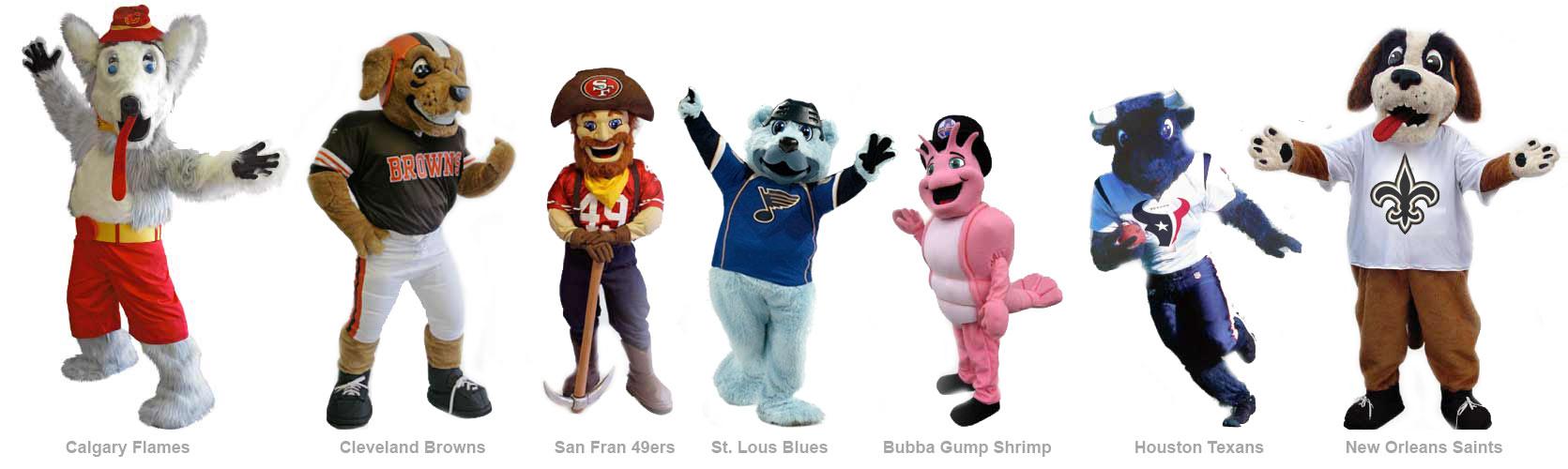 Sports Team Mascots College Mascots Corporate Mascots